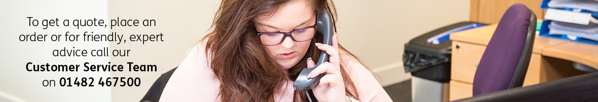 A young woman on the phone